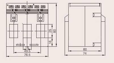 kích thước biến dòng 3 pha TPCT-103